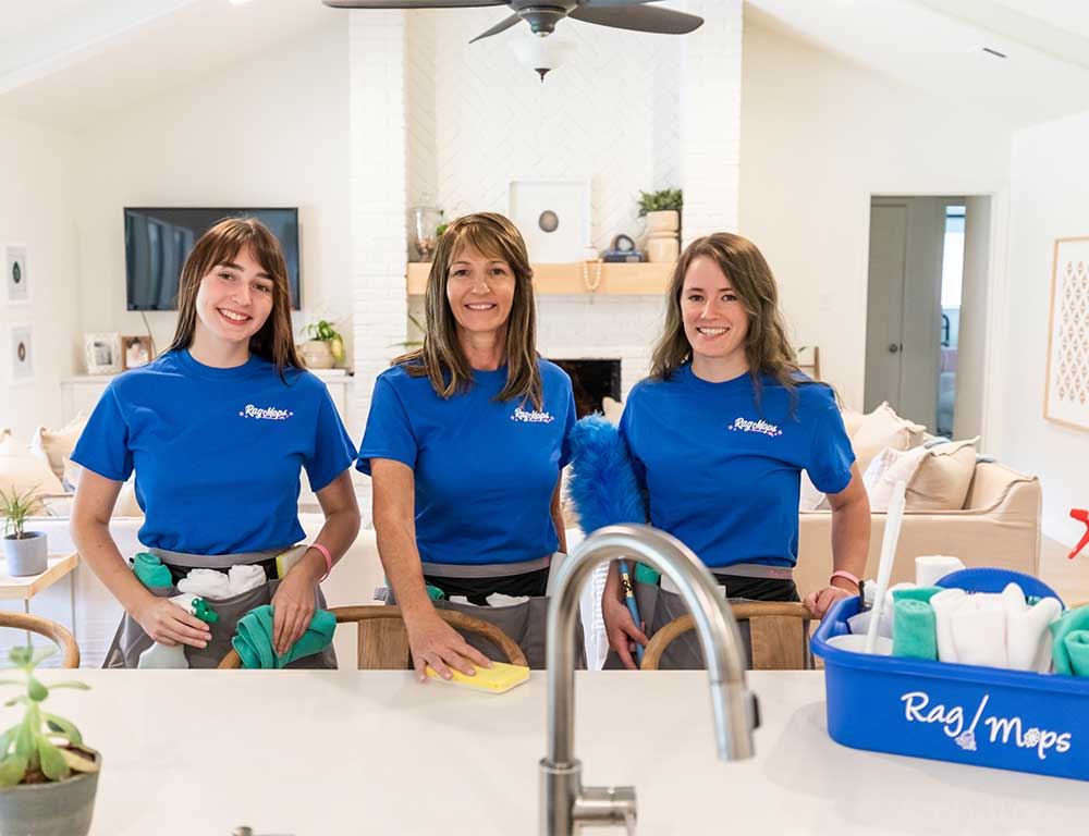 Quick and Easy Closet Organizing   Rag Mops Cleaning Service aims to be the best maid service through our quality house cleaning and exceptional customer service. With our centralized location in Lewisville, we're able to provide residential cleaning services to Lewisville, Highland Village, Lantana, Double Oak, Copper Canyon, Corinth, Lake Dallas, and Hickory Creek.